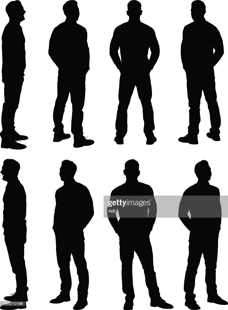 Casual man standing : stock illustration