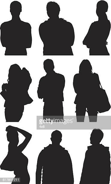 casual people posing - waist up stock illustrations, clip art, cartoons, & icons