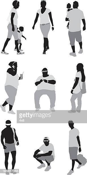 ilustraciones, imágenes clip art, dibujos animados e iconos de stock de informal personas - obesidad infantil