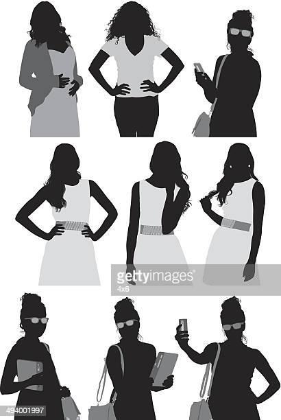 カジュアルな女性 - updo点のイラスト素材/クリップアート素材/マンガ素材/アイコン素材
