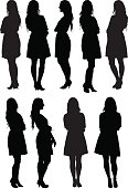 Casual women standing