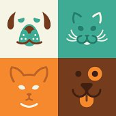Cat and Dog Pet Symbols