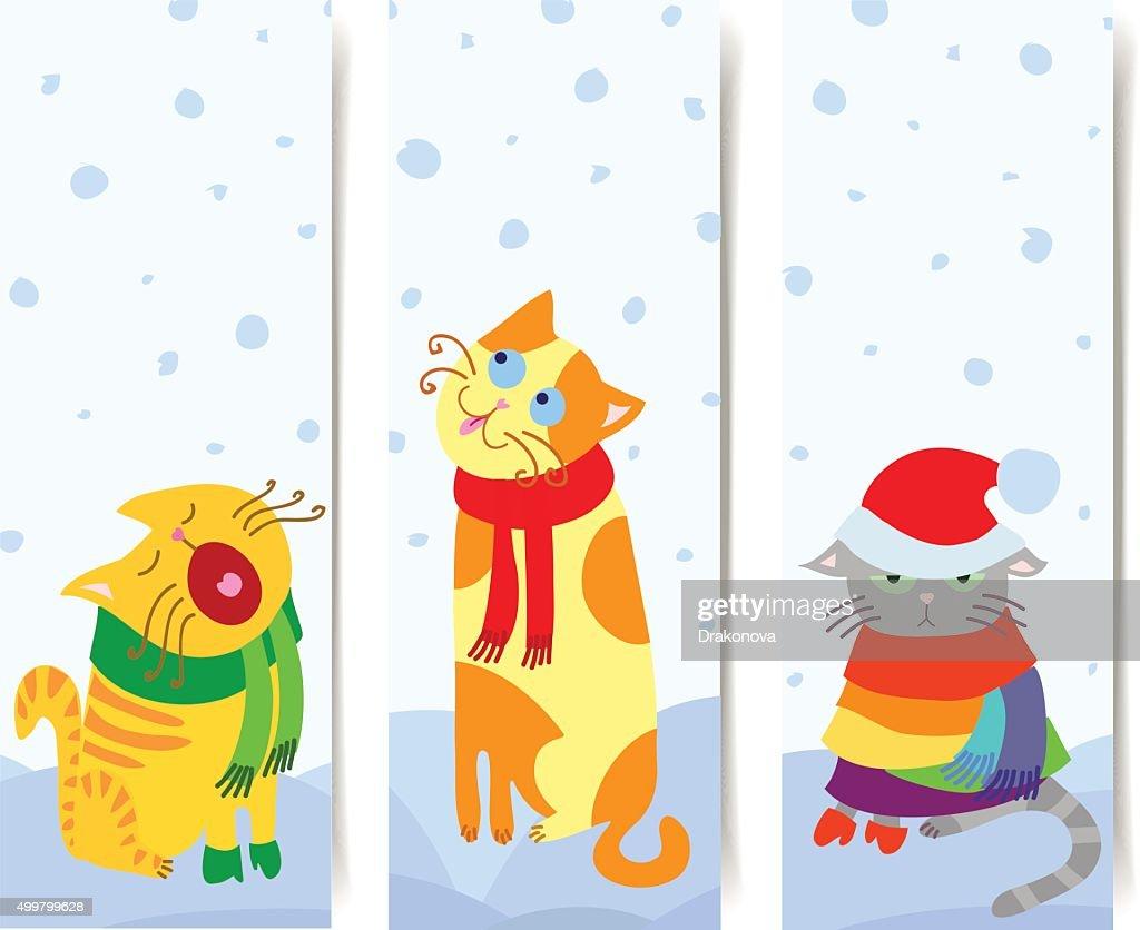 Cat banners vertical