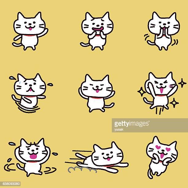 illustrations, cliparts, dessins animés et icônes de caractère de chat - chat humour