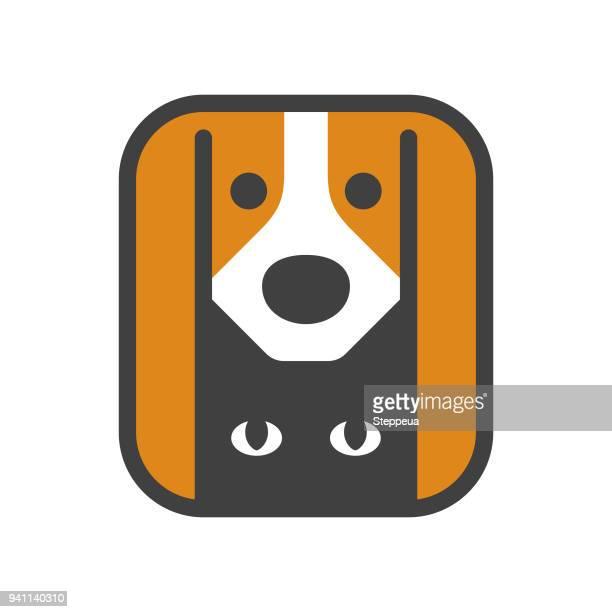 cat & dog - pets stock illustrations