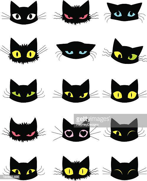 cat emoticons - love at first sight stock illustrations