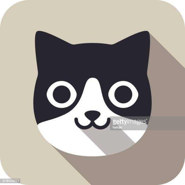 cat face flat icon series