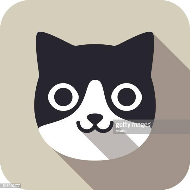 illustrations, cliparts, dessins animés et icônes de série icône tête de chat écran - chat humour
