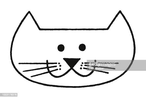 cat face - animal head stock illustrations