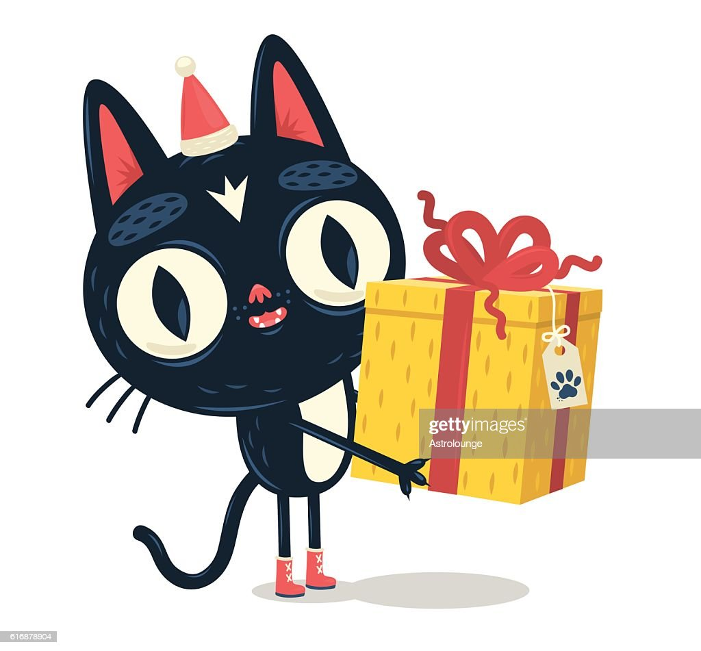 Cat giving a gift