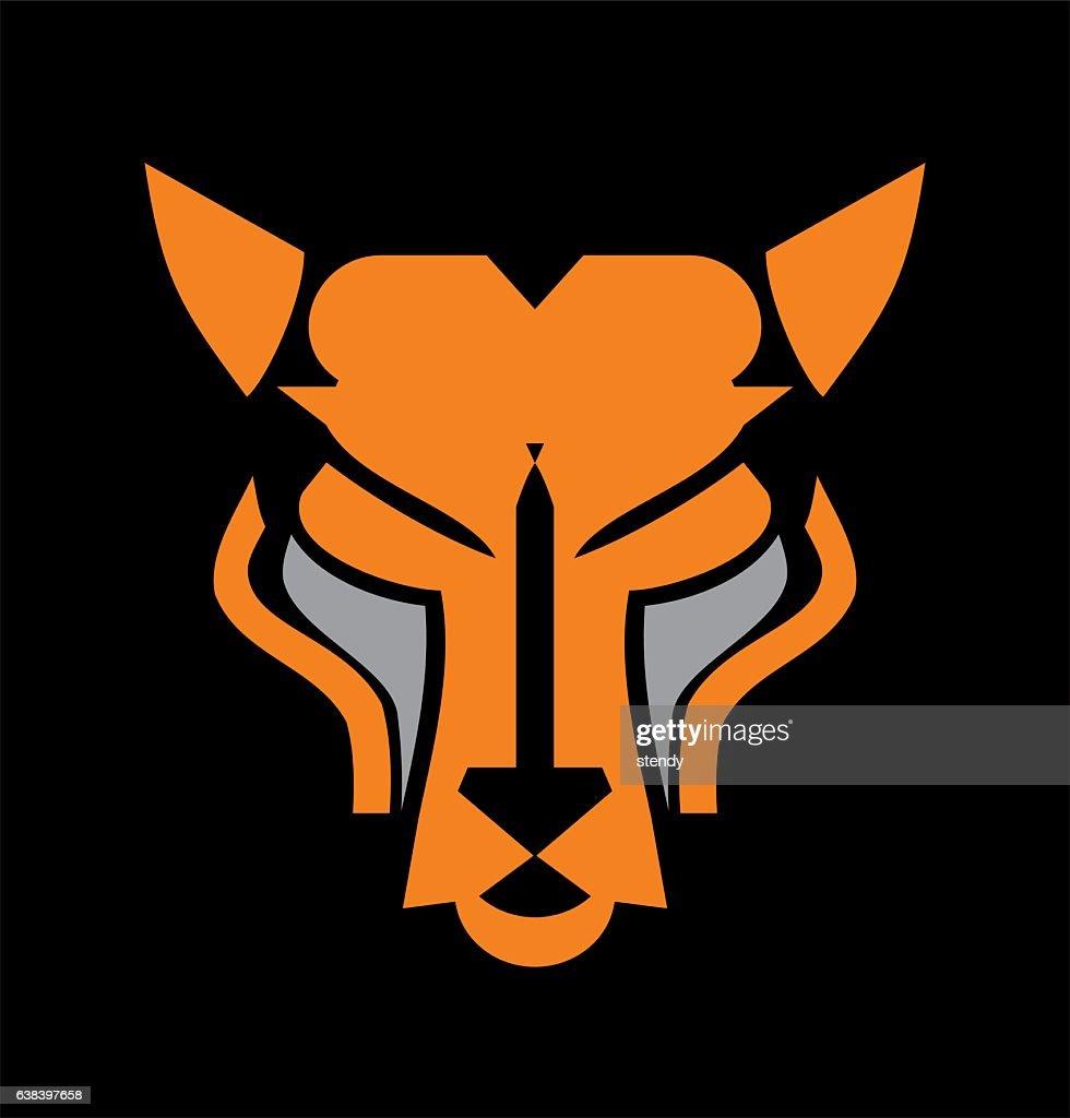 cat head icon. Panther head. Cheetah head