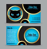 Cat head theme business card