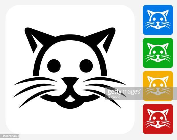 Cat Icon Flat Graphic Design