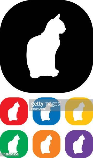illustrations, cliparts, dessins animés et icônes de ensemble d'icônes de chat 4 - chat profil