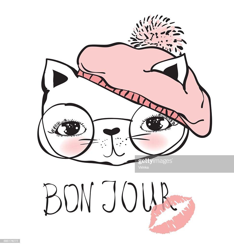 Cat in beret