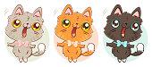 cat in kawaii style.