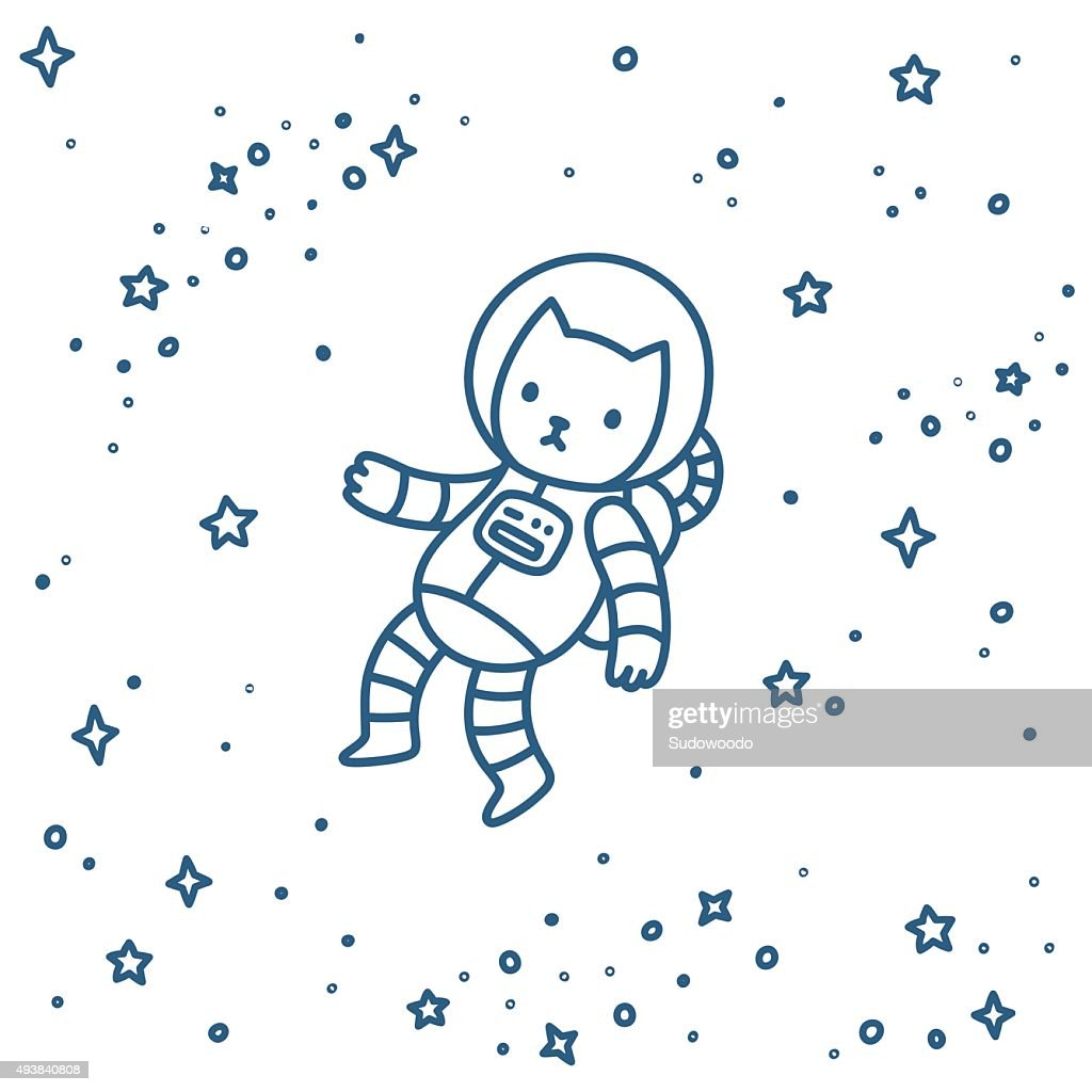 Cat in space : Vector Art