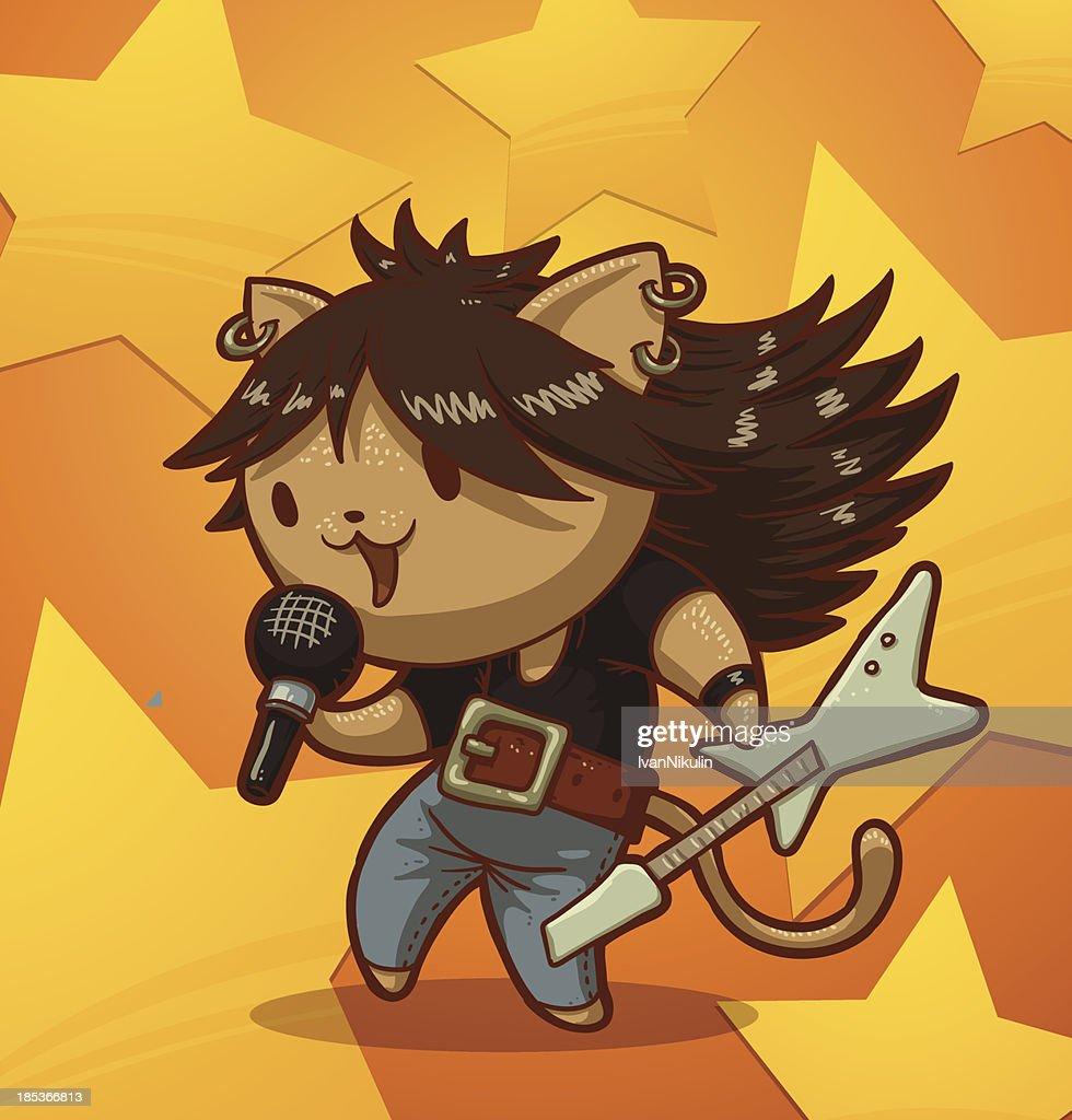Cat man rock singer
