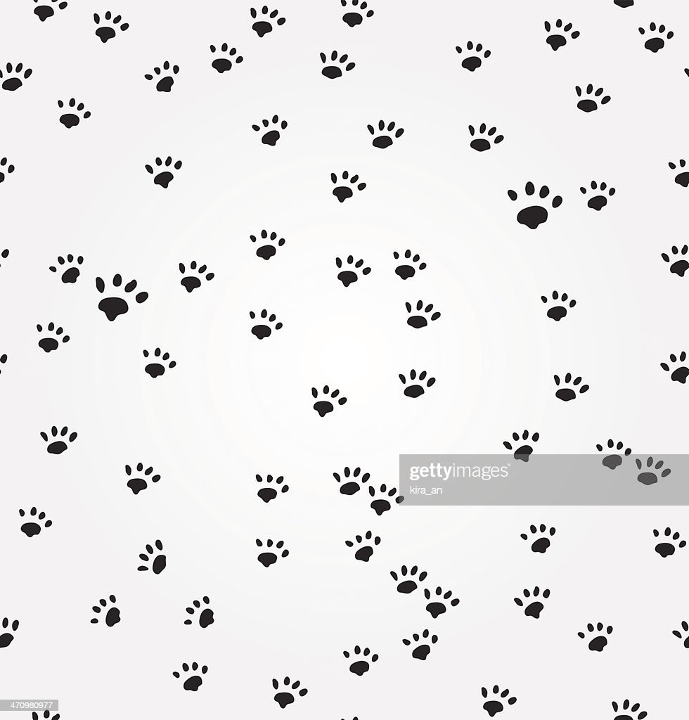 Cat  Paw Prints vector seamless background