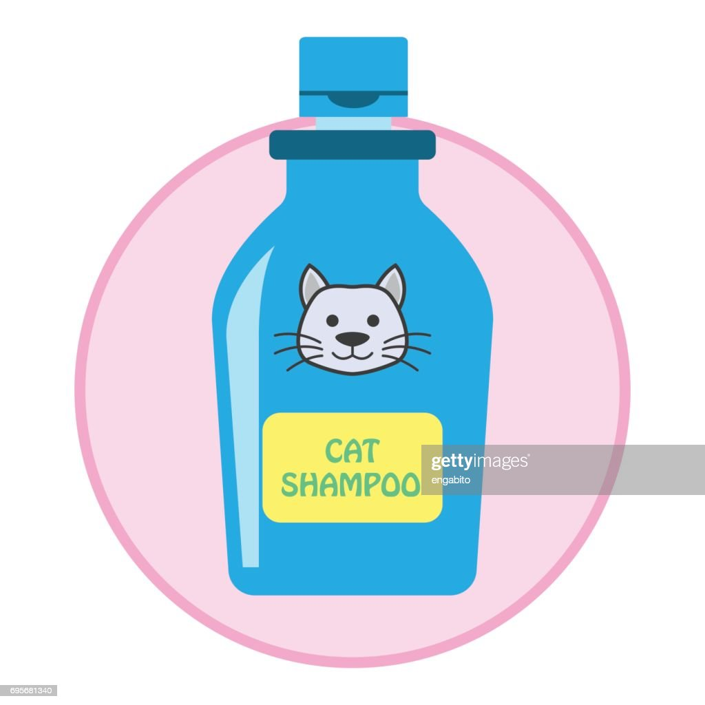 cat shampoo / pet toys accessories. vector illustration