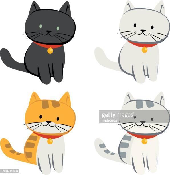 cat - animal whisker stock illustrations