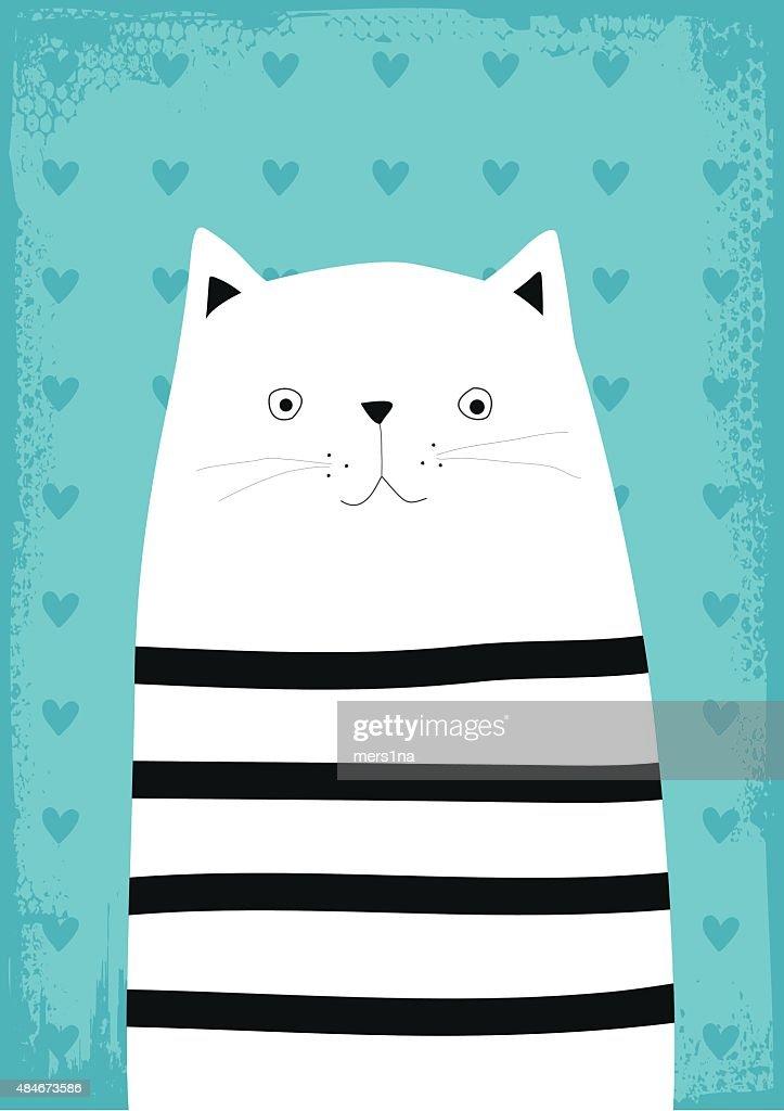 cat vector illustration cartoon