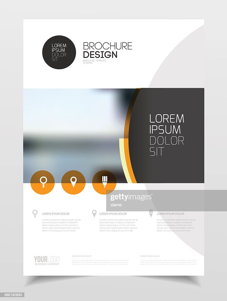 Catalogue cover design. Annual report vector illustration templa