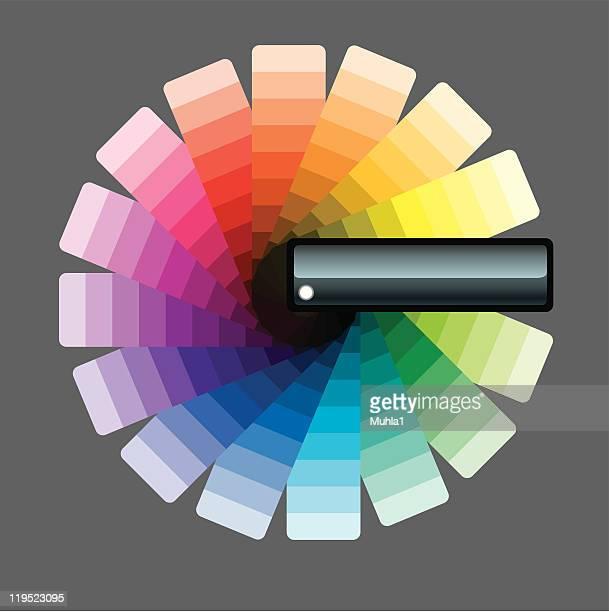cmyk catalogue - artist's palette stock illustrations