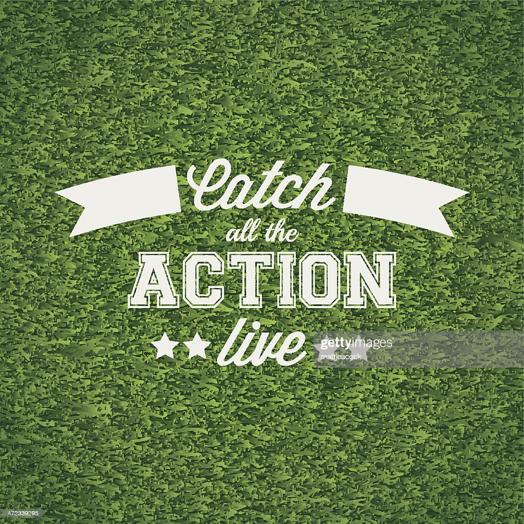 Catch all the action live : stock illustration