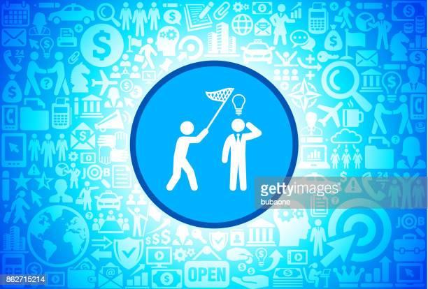 Fang von Idee Symbol für Wirtschaft und Finanzen-Vektor-Hintergrund