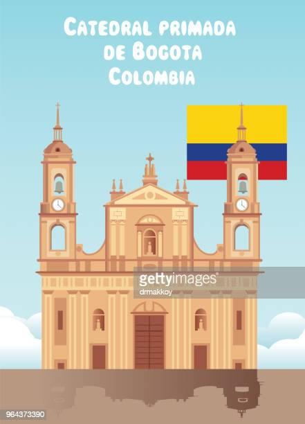 ilustraciones, imágenes clip art, dibujos animados e iconos de stock de catedral primada de colombia - colombia