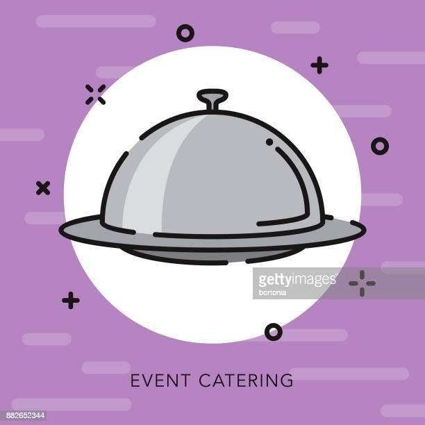 Catering-offene Kontur feiern & Parteien Symbol