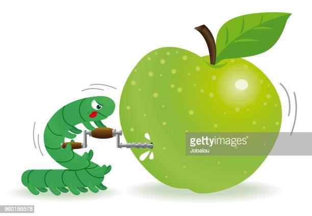 Caterpillar Piercing Green Apple