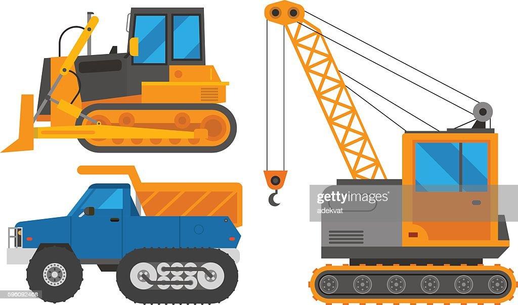 Caterpillar vehicle tractor vector