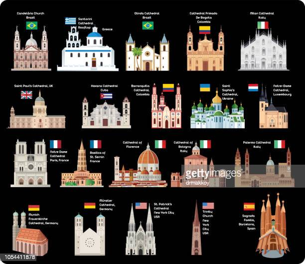 cathedrals - milan stock illustrations, clip art, cartoons, & icons