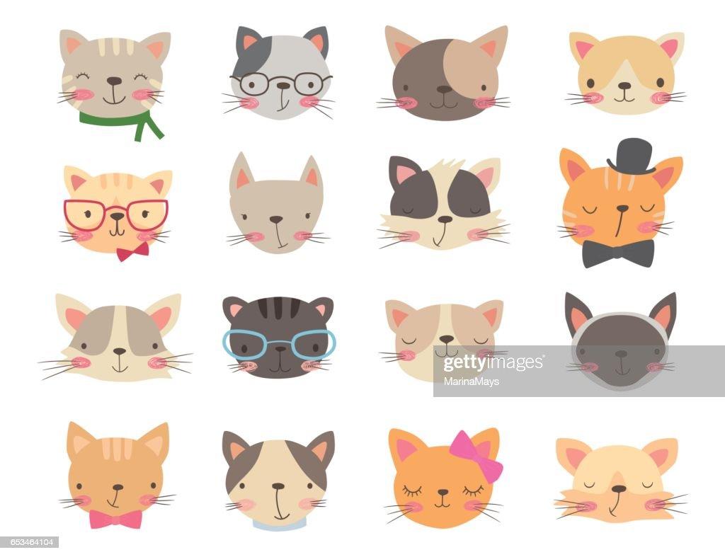 Cats heads set
