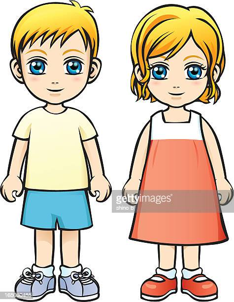 Caucasian Boy and Girl