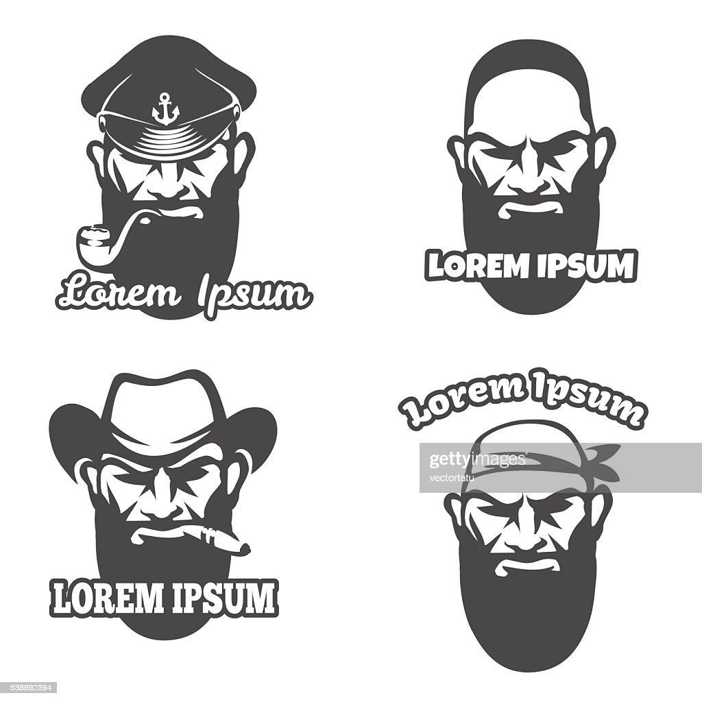 Caucasian face logo