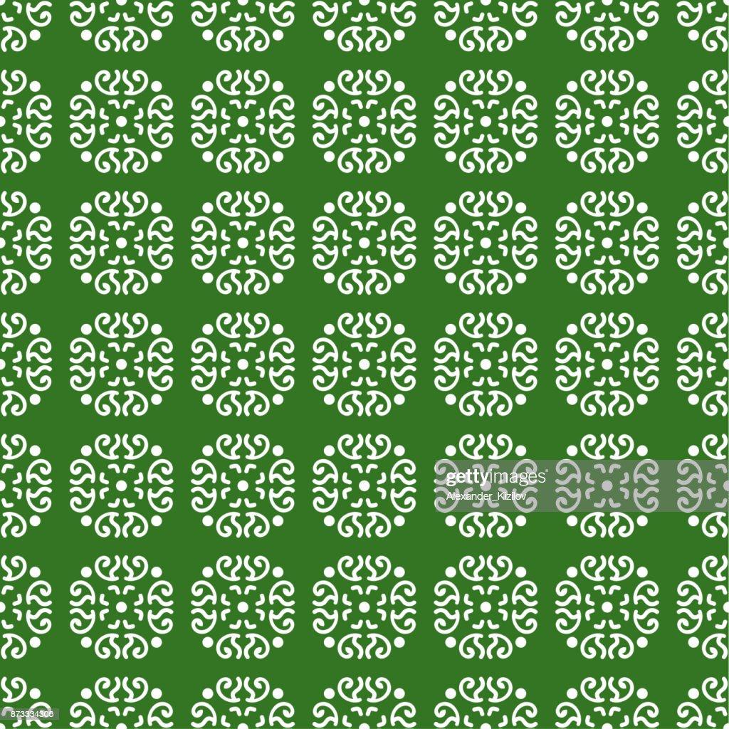 Caucasian seamless pattern