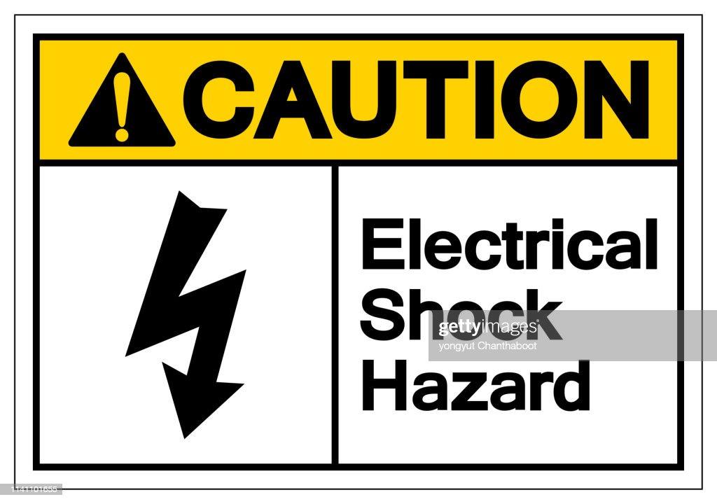 Caution Electrical Shock Hazard Symbol Sign, Vector Illustration, Isolate On White Background Label .EPS10
