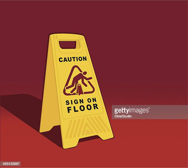 Caution - Sign on Floor