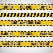 Caution stripes collection.