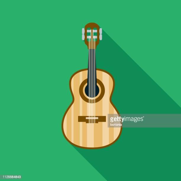 ilustrações, clipart, desenhos animados e ícones de cavaquinho guitarra ícone do brasil - violão