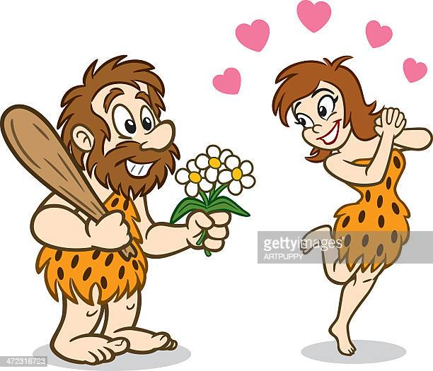 Caveman And Woman In Love
