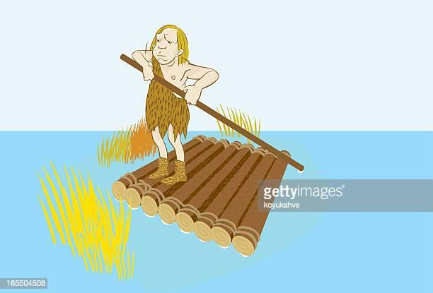 caveman raft