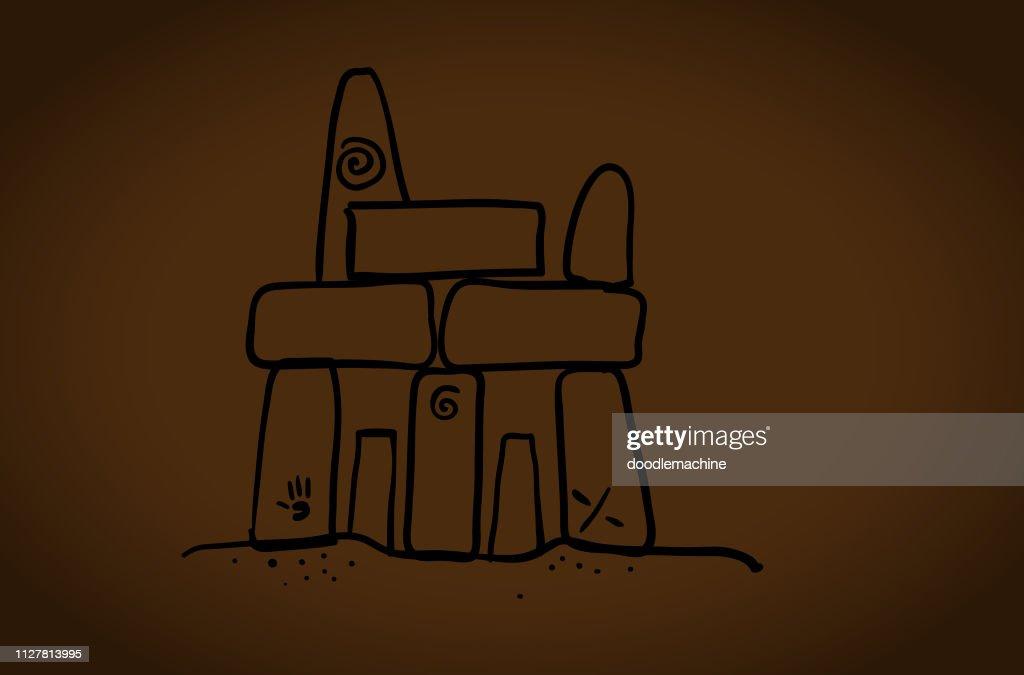 Caveman Stones : stock illustration