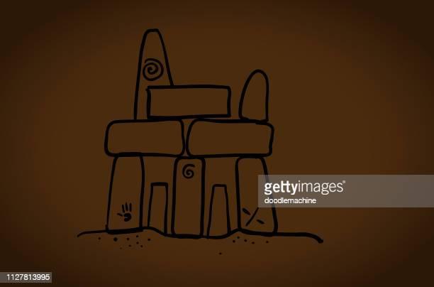 ilustrações de stock, clip art, desenhos animados e ícones de caveman stones - megalith