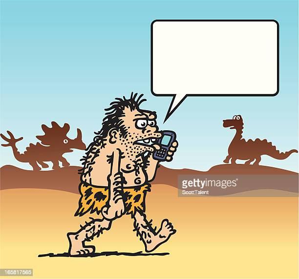 caveman - paleolitico stock illustrations