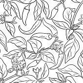 cayenne pepper seamless pattern