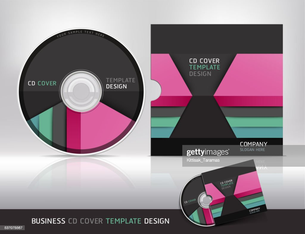 Cd cover design template. Abstract background.